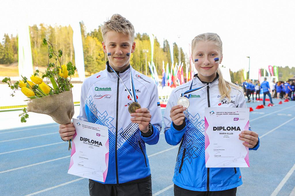 Maria Eller hõbedal ja Olle Ilmar Jaama pronksil koolinoorte MM-i avaalal
